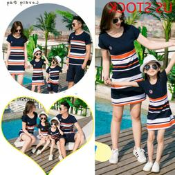 Mother and Daughter Clothes Parent-child dress Family Matchi