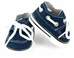 Navy Canvas Boat Shoes Doll Clothes For 18 Inch American Gir