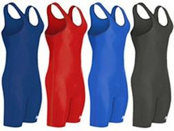 NEW Adidas aS101s Solid Color Wrestling Singlet, Youth Boys