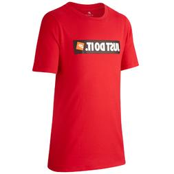 New Nike Big Boys Just Do It T-Shirt Red