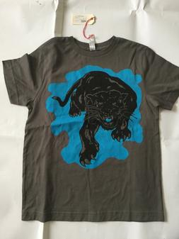 NEW. POPPY STORE BOY'S PANTHER GRAPHIC T-SHIRT. SIZE 8. NWT