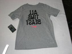 NEW Boys NIKE ALL TIME BEAST Youth S/S Dri-Fit T-Shirt Size