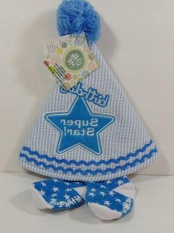 New Little Me Boys First Birthday Super Star Hat w/ Ribbon T