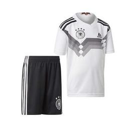 NEW Adidas Boys Kids Germany Home Mini Soccer Kit Jersey Top