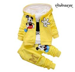 New Children Girls Boys Fashion Clothing Sets 3 Piece Suit H