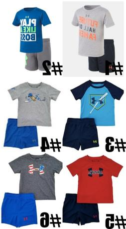 New Under Armour Infant Boys Shirt and Short 2 Piece Set Cho