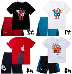 New Nike Little Boys Dri-FIT Shirt & Shorts Set Choose Size