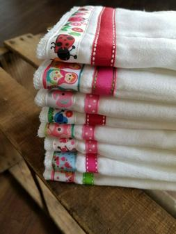 New Personalized set of 2 Burp Cloths Baby Gift Embroidered