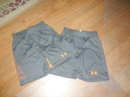 New Under Armour Shorts Size 6 Gry/Org Toddler 5T 6T Lot 2 T
