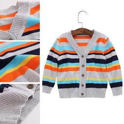 NEW Spring Autumn Baby Boys Clothing Striped Cardigan Sweate