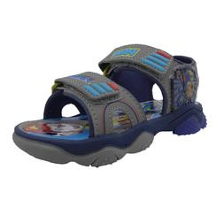 NEW Toddler Boys Licensed Paw Patrol Gray Sport Sandals Size