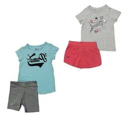 New Puma Toddler Girl's 2-PC Shirt and Shorts Set MSRP:$42.0
