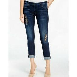KUT FROM THE KLOTH NEW Women's Catherine Embroidered Boyfrie