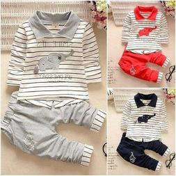 Newborn Baby Boys Clothing Sets Top Pants Infants Animal Clo