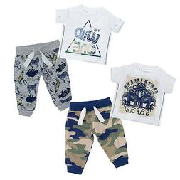newborn baby boys jogger and t shirt
