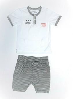 NWT, Baby Boy clothing, 2 piece set, shirt and shorts,95% Co