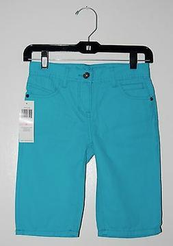 NWT GUESS Big Boys Aqua Blue 100% Cotton Denim Pigment Short