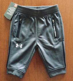 NWT UNDER ARMOUR BOYS GRAY JOGGER ATHLETIC PANTS ~ SIZE 0-3