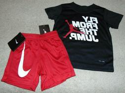 nwt boys jordan and dri fit outfit