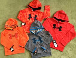 NWT Under Armour Boys' Logo Hoodie Pull Over Zip Up 2 Piece