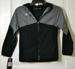 NWT BOYS YOUTH UNDER ARMOUR COLDGEAR BLACK FULL ZIP JACKET C