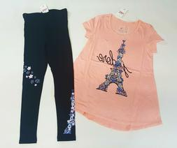 NWT Justice Girls Size 14/16 or 18/20 Flower Paris Eiffel To