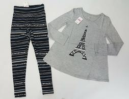 NWT Justice Girls Size 14/16 or 18/20 Paris Eiffel Tower Top