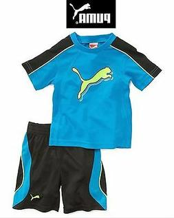 Puma Boys 2 Piece Shorts Outfit with T-Shirt 3 Styles to Choose 2T 3T NWT