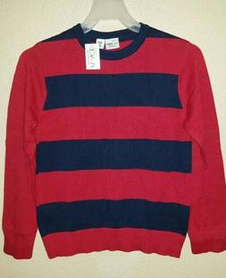 NWT The Children's Place Boys Crew Neck Striped Sweater Red/