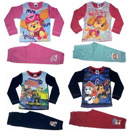 Official Paw Patrol PAW Pyjamas Pjs Pajamas Baby Girls Boys