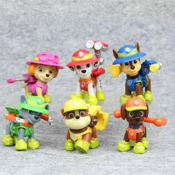 Paw Patrol Jungle Rescue Rubble Zuma 6pcs Dogs Figures Cake