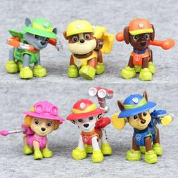 Paw Patrol Jungle Rescue Rubble Zuma Marshall 6 PCS Dog Acti