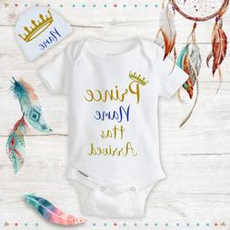 Personalized Name Prince Baby Boy Clothes Onesies & Hat Baby
