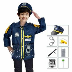 play Set Children Police Man Role Play Game Toy Uniform Outf