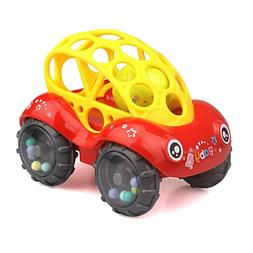 Zhfuys Rattle  Roll Car,6 To 12 Months Baby Toys 5 Inch Bo