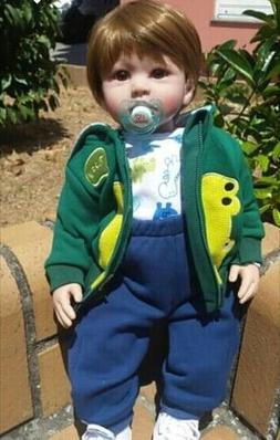 Reborn Toddler Boy Dolls 24 inch Realistic Weighted Silicone