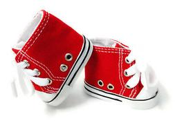 """Red High Top Sneakers Tennis Shoes made for 18"""" American Gir"""