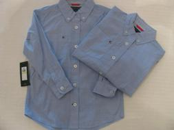 Set of 2 NWT Boy's Tommy Hilfiger Button-Down Shirts Size 4