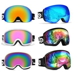 Ski Goggles Double Anti Fog Lenses 400 UV Protection For men