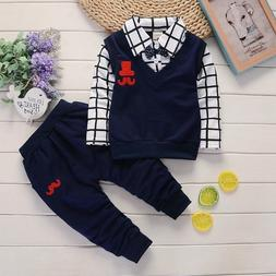 Spring autumn Products Kids Clothes Baby Boys T-shirts+Pants