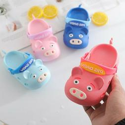 Summer Infant Baby Boy Girl Pig Cartoon Beach Sandals Casual
