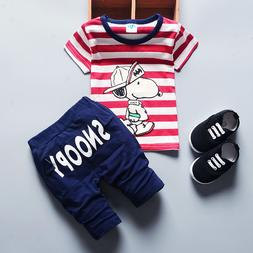 Summer Casual Outfit Baby Boys Clothes Toddler Short Sleeves
