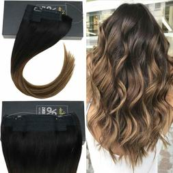 Sunny Halo Hair Extension Remy Human Hair Invisible Wire Bal