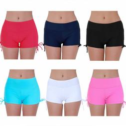 Swim Shorts Women's Boy Cut Gym Briefs Bikini Beach Bottoms
