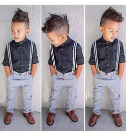 The Children's Place Baby Boys Dress Shirt and Pants Set wit