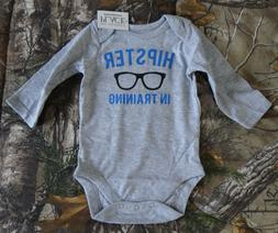 The Children's Place Baby Boys' HIPSTER IN TRAINING gray Bod