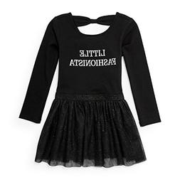 The Children's Place Baby Little Girls' Bow Back Knit Dress,