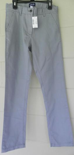 The Children's Place Fin Gray Boys Uniform Skinny Chino Pant