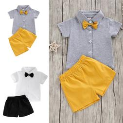 toddler baby boy 2pcs clothes short sleeve