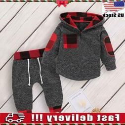 Toddler Baby Boys Hooded Tops T Shirt Long Pants Tracksuit O